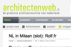 Architectenweb, Mai, 22th 2009