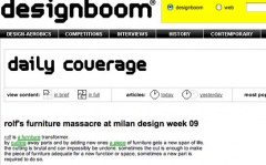 Designboom March, 26th 2009